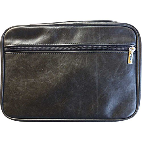 Cover Leather Black (Bible Cover - Distressed Leather Look-Large-Black)