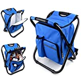 YFFSUN Outdoor Portable Backpack Folding Chair with Bag, Fishing Chair,Travel Chair,Camping Chair 3-in-1 Function (Folding Chair, Backpack and Mobile Small Fresh Storage)