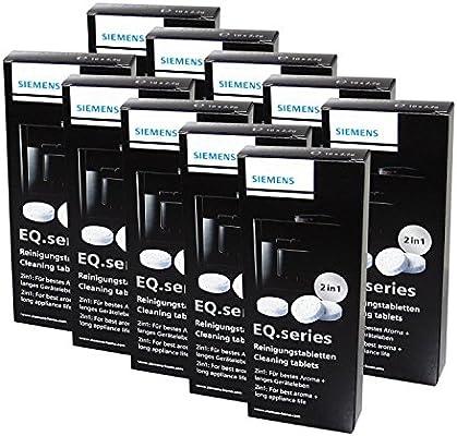 Siemens TZ80001 - Set de 10 pastillas de limpieza para cafetera ...
