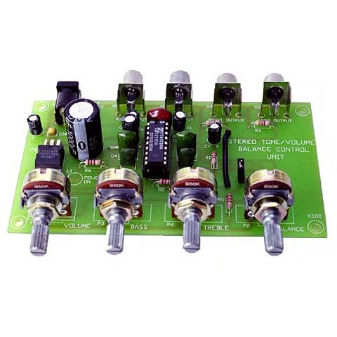 Stereo Preamp and Tone Control Kit (Preamplifier Kit Stereo)