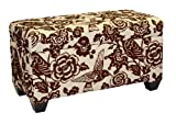 Skyline Furniture Walnut Hill Storage Bench in Canary Earth Fabric