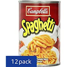 Campbell's Spaghetti in Tomato Sauce with Cheese, 14.75 Ounce (Pack of 12)