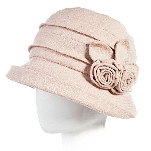 Siggi 1920s Winter Fall Wool Felt Cloche Bucket Hat ...