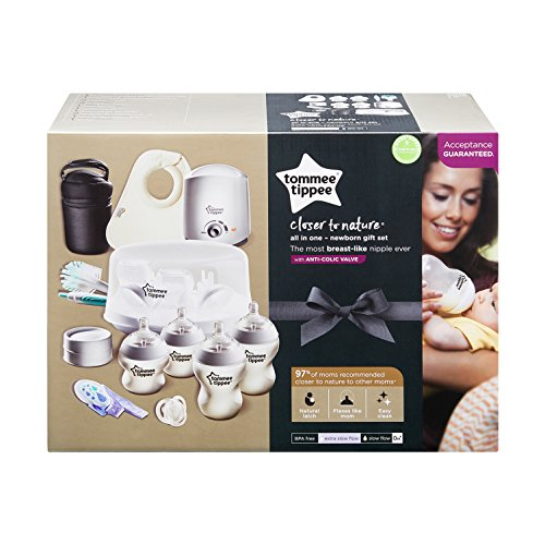 Tommee Tippee Closer to Nature All in One Newborn Baby Bottle Feeding Essentials Gift Starter Set with Electric Bottle Warmer, Bottle Sterilizer, Breast Milk Safe - BPA Free by Tommee Tippee (Image #14)