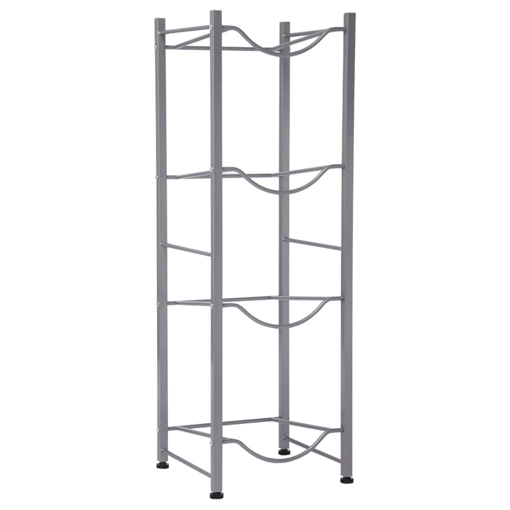 4-Tier 5 Gallon Water Bottle Holder Shelf Metal Shelf System Stand Heavy Duty Water Cooler Jug Rack by Rgmer