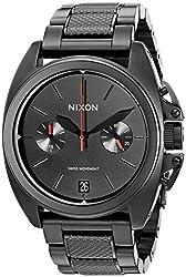 Nixon Men's A930001 Anthem Chrono Analog Display Swiss Quartz Black Watch