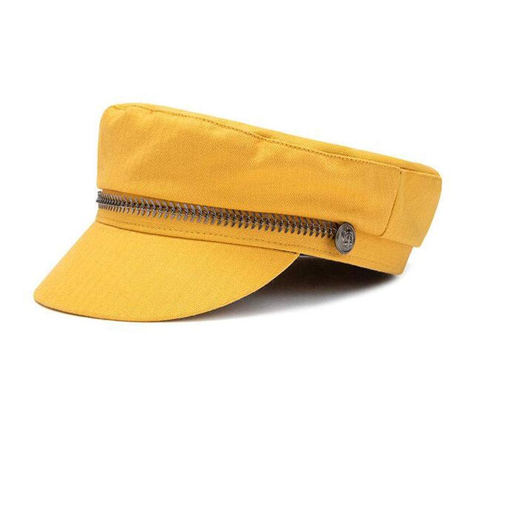 Yellow Sun Visor Hat Cotton Flat Top Sunscreen Wild Spring And Summer Fashion Casual Ladies 576cm MUMUJIN