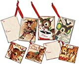 Set of 12 Gift Tags - ''Christmas'' Deer