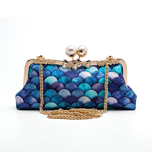 Diagonal Fashion Ladies Party Bag Fashion Bag Cheongsam Wild Bag Bag Clutch Evening Mermaid A Party xzwwqU0