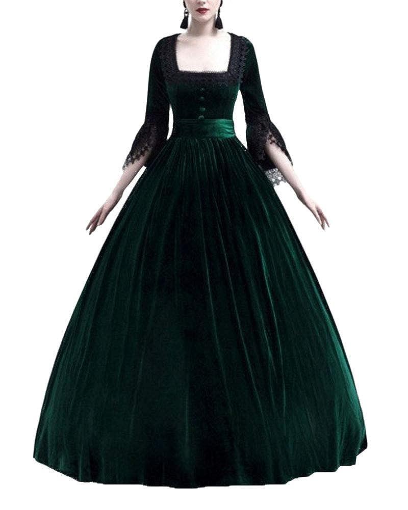 Disfraz Medieval Trapear Elegante para Mujer Vestido Larga ...