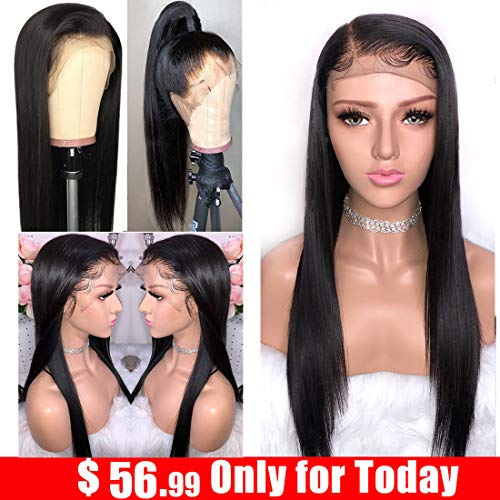 (Ayniss Straight Lace Front Wigs Brazilian Virgin Unprocessed Human Hair Wigs 13x4 Lace Frontal With Baby Hair For Black Woman 12)