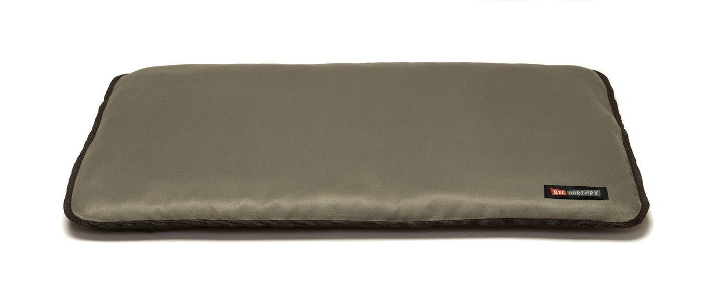 Big Shrimpy Landing Pad Faux Suede Crate Mat Extra Large, Stone - Comortable & Built to Last, Durable & Machine Washable, Water Resistent Nylon