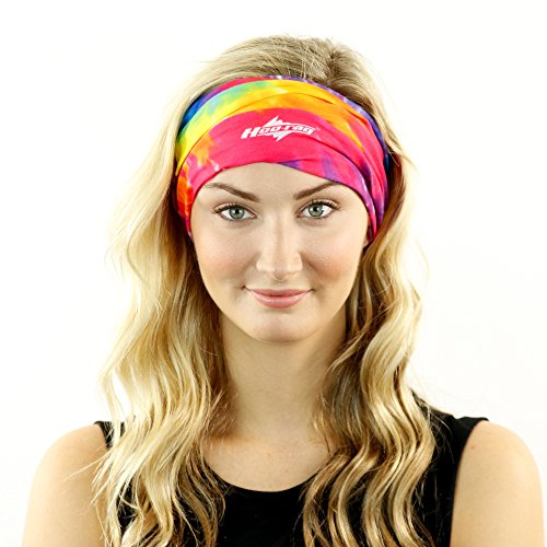 Tie Dye Headband Hair Wrap and Dread Tube All in One - Wear It Multiple Ways -