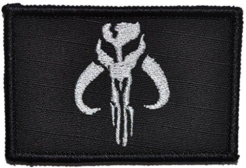 Mandalorian Skull - 2x3 Morale Patch (Black) - Buy Online