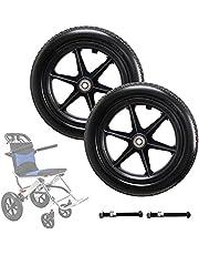JTGPFC 12 inch achterwiel voor handmatige rolstoelen - 12 mm kogellagers, vervangende wielen voor handmatige rolstoelen, stilte, anti-slijtage & antislip