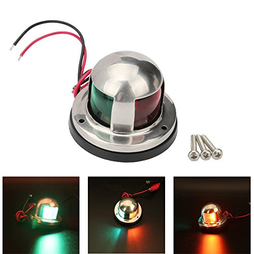 Senzeal LED Navigation Lights IP66 Waterproof Boat Yacht Light DC 12V Sailing Signal Lights for Boat Red and Green by Senzeal