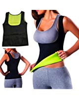 Warm Thermo Thank Top Sweat Yoga Vest Sweat Neoprene Body Shaper Slimming Waist Shaper Trainer Top Vest Cincher
