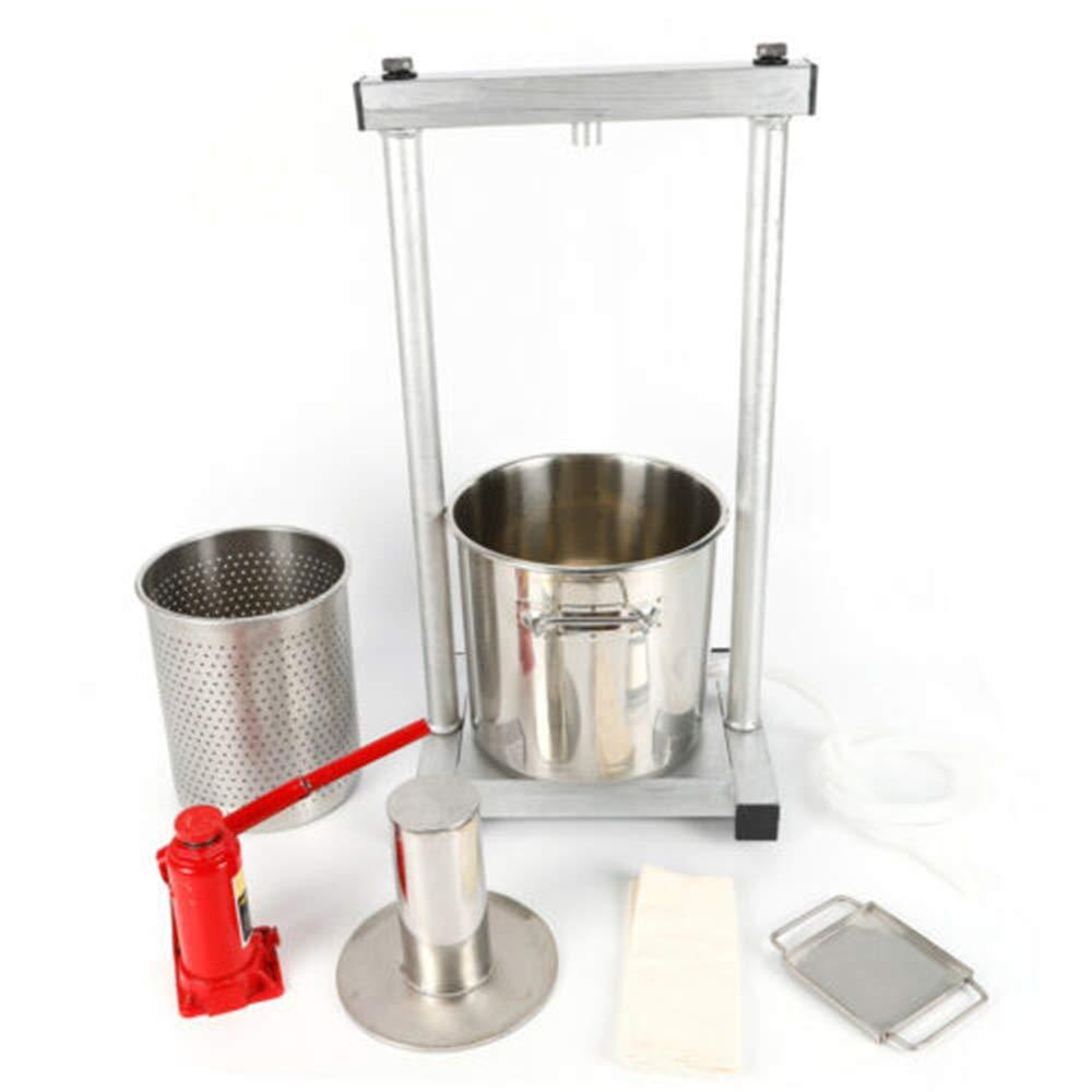 12L Fruit Press 304 Stainless Steel Pressing Plate Fruit Crusher for Apple Cider