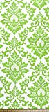 Fabric Shower Curtain - CECILIA KIWI - 72'' Width x (72'', 74'', 78'', 84'', 90'', 96'') Length