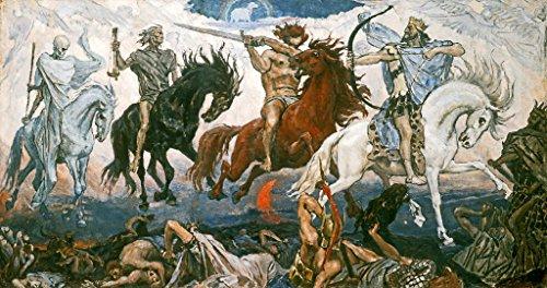 kunst für alle Art Print/Poster: Victor Mikhailovich Vasnetsov The Four Horsemen of The Apocalypse 1887