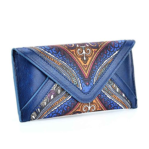 Women's Multifunctional Envelope Style Long Purse Clutch Credit Card Holder Cash Wallet Printing Flower