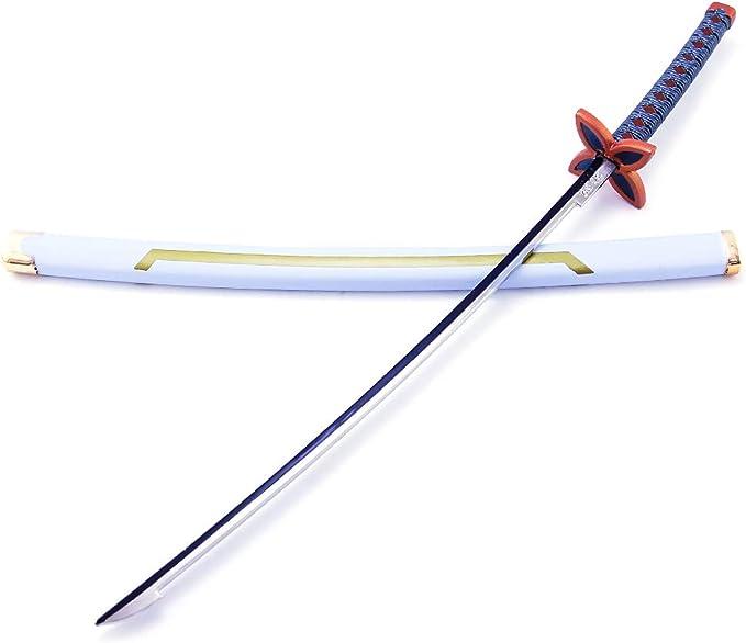 Arma De Juguetes Decorativos Demon Slayer Blade para Amantes del Anime Lyclyb Demon Slayer Blade Cos Espada De Madera Tomioka Yoshiyuki Prop Modelo De Arma Juguetes De Accesorios De Cosplay