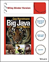 Big Java, Binder Ready Version: Early Objects, 6th Edition