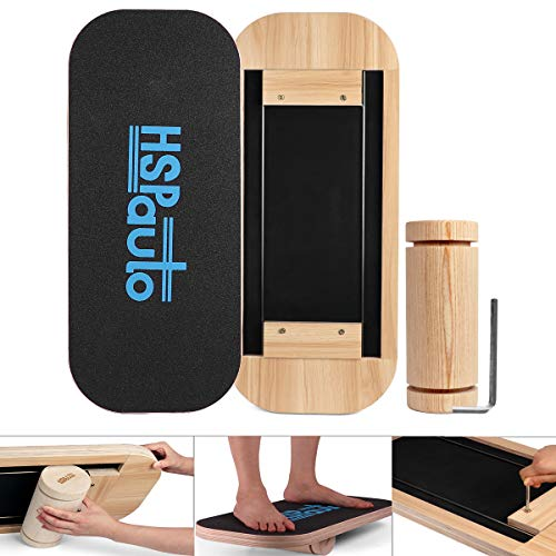 Great Deal! HSPauto Wooden Balance Board, Balancing Board W/Special Orbit Design & 27.6 Wood Standi...