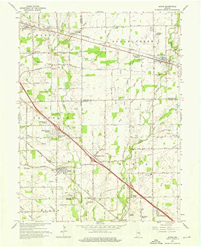 YellowMaps Acton in topo map, 1:24000 Scale, 7.5 X 7.5 Minute, Historical, 1962, Updated 1976, 27 x 22 in - Tyvek