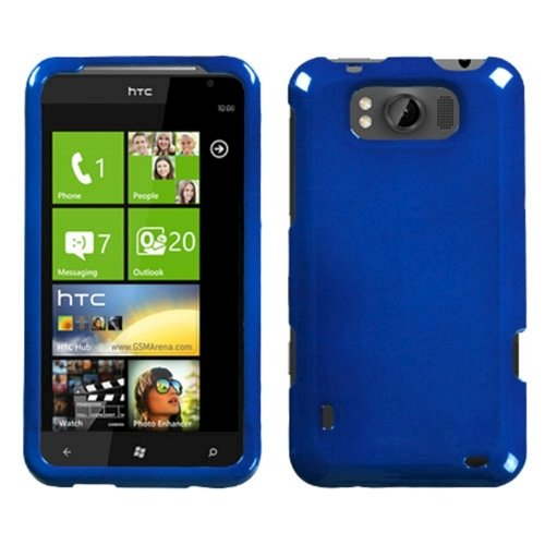 Asmyna HTCX310AHPCSO003NP Premium Durable Protective Case for HTC Titan X310a - 1 Pack - Retail Packaging - Dark Blue