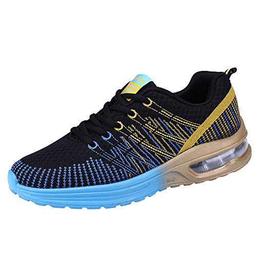 Men Air Running Shoes, Male Outdoor Sports Multicolor Soft Bottom Shoes Mesh Breathable Non-Slip Casual Sneakers