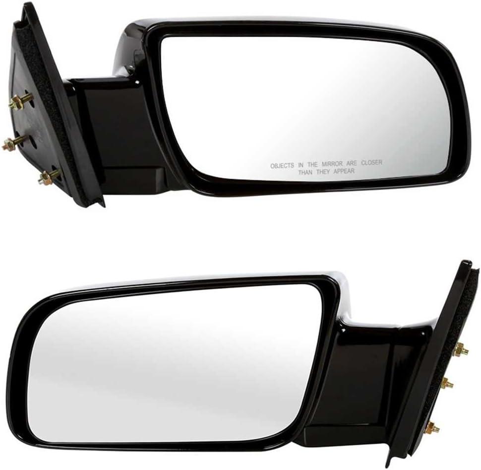 Prime Choice Auto Parts KAPGM1320140PR Side Mirror Pair Black Manual Left and Right
