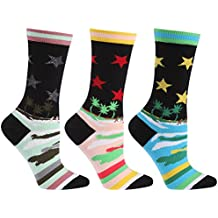 Novelty Crew Socks, Ristake Unisex Fashion Funky Patterned Crew Dress Socks 1/3 Pairs