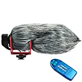 First2savvv TM-GO-01G10 Outdoor Portable Digital Recorders Furry Microphone Mic Windscreen Wind Muff for RØDE VideoMic GO. RODE GO + SD card reader