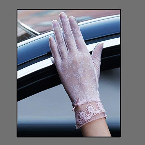 Coio 女性手袋 レディースUVカット レース 薄手日焼け防止 紫外線カット ブライダル手袋(スタイル13)