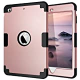 ipad mini cases cheap - iPad Mini 2 Case,iPad Mini 3 Case,iPad Mini Case Pink,Fingic Slim Hybrid Case Soft Silicone Interior and Hard PC Exterior Protective iPad Mini 1/2/3 Case for Kid,Rose Gold/Black