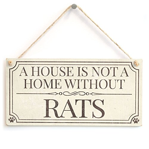 Meijiafei A House is Not A Home Without Rats - Home Accessory Gift Sign/Plaque for Pet Rat Owners 10