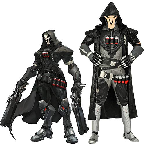 Overwatch Reaper Cosplay Costume, Officially Licensed, Halloween