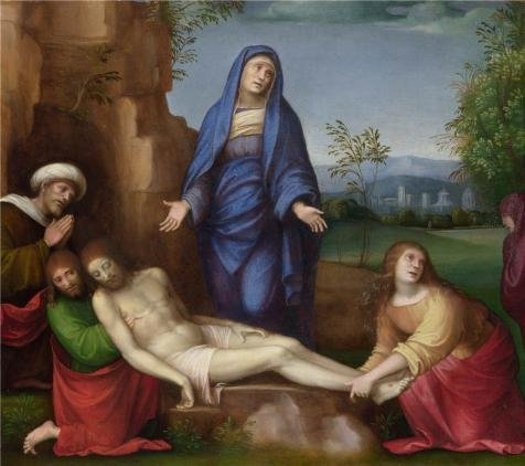 'Francesco Francia - Mourning Over The Dead Christ,about 1510-17' Oil Painting, 12x14 Inch / 30x34 Cm ,printed On High Quality Polyster Canvas ,this Cheap But High Quality Art Decorative Art Decorative Prints On Canvas Is Perfectly Suitalbe For Home Theater Gallery Art And Home Decor And Gifts