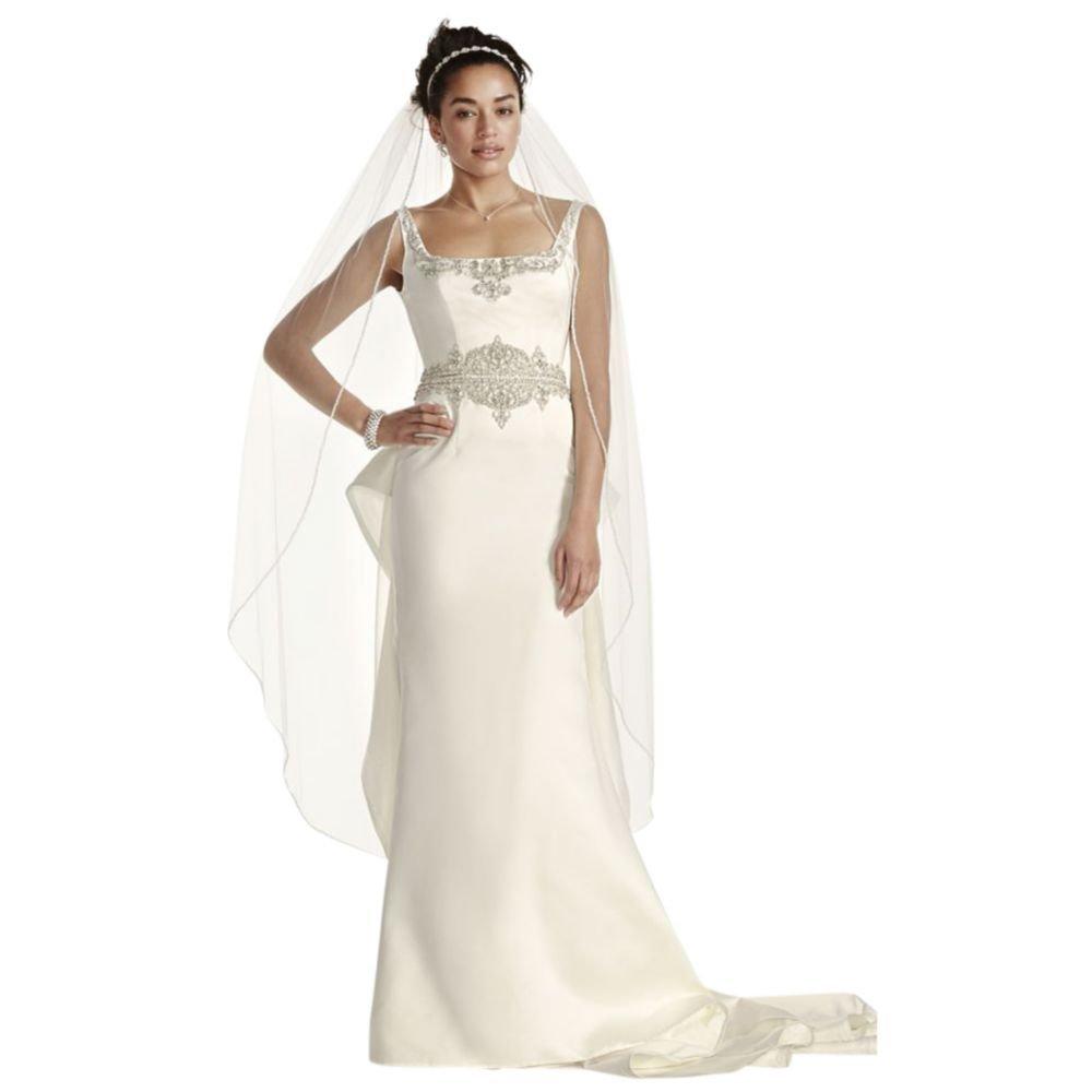 Davids Bridal Sample As Is Satin Tank Mermaid Wedding Dress Style