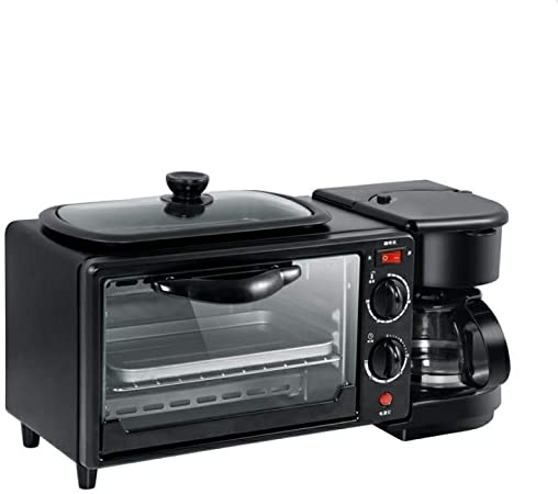 Máquina de Desayuno Tres en uno Máquina de café de Horno multifunción Tostadora Estufa Máquina de Pan Electrodomésticos, Suministros de Cocina: Amazon.es: Hogar