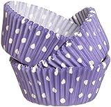 Wilton Purple Dots Baking Cups, 75 Count