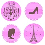 Paris Pink Wall Decals Stickers
