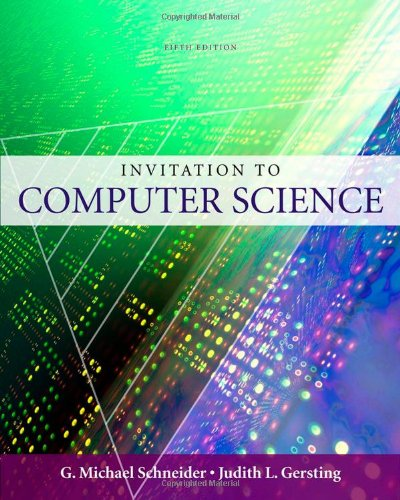 An Invitation to Computer Science, 5th Edition Front Cover
