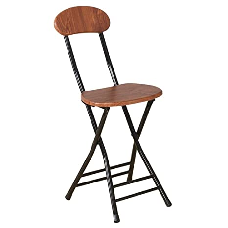 Amazon.com: Silla de bar plegable con respaldo | Taburete de ...