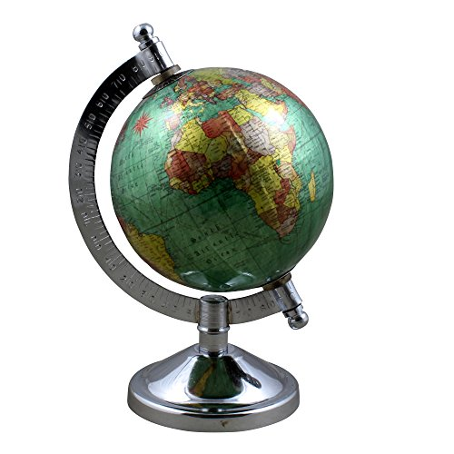 Desktop Political World Globe Earth Map with Stand Gift - Perfect for Home Office Desk Decoration - Stock Clearance -