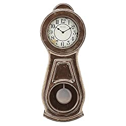 Bulova Guilford Wall Clock, 19, Brown