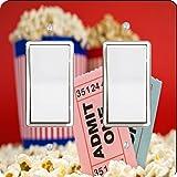 Rikki Knight Movie Stubs and Popcorn Design Double Rocker Light Switch Plate