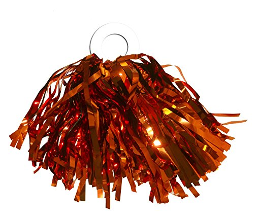 ACI PARTY & SPIRIT ACCESSORIES Mini Pom Metallic Orange with -