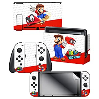 "Controller Gear Officially Licensed Nintendo Switch Skin & Screen Protector Set - Super Mario ""Odyssey"" - Nintendo Switch"